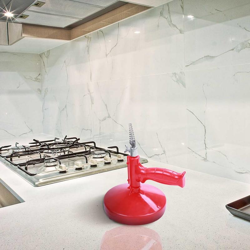 5M Drain Cleaner Snake Kitchen Plumbing Sink Cleaner Bathroom Shower Drain  D9V4 2