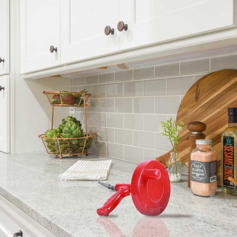 5M Drain Cleaner Snake Kitchen Plumbing Sink Cleaner Bathroom Shower Drain  D9V4 3