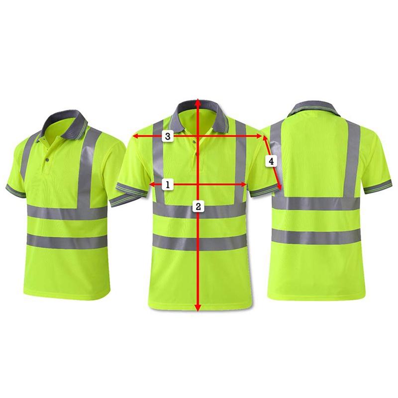 Moisture-Wicking-Camisa-Reflectante-Manga-Corta-Chaleco-Amarillo-Safet-y-Cl-A7T3 miniatura 5