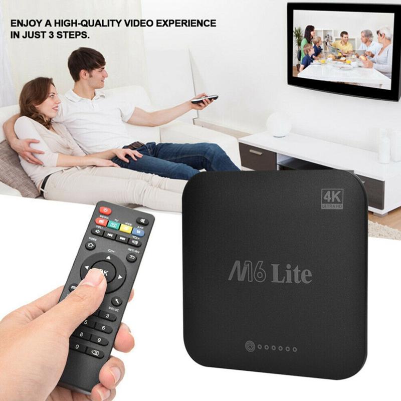 1X-M16-Lite-Android-Smart-Tv-Box-Ddr3-Emmc-Rom-Set-Top-Box-4K-3D-H-265-Wifi-W4Q1 miniatura 9