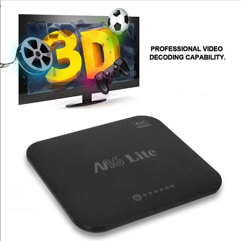 1X-M16-Lite-Android-Smart-Tv-Box-Ddr3-Emmc-Rom-Set-Top-Box-4K-3D-H-265-Wifi-W4Q1 miniatura 10