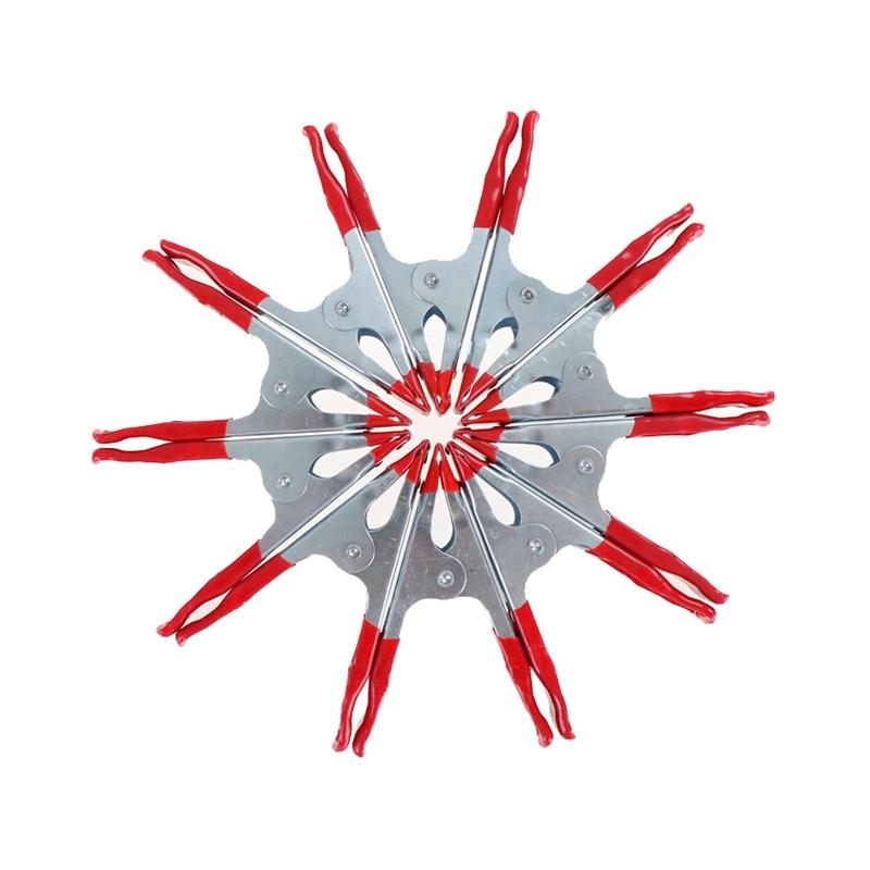 10-StUCke-2-Zoll-Mini-Metall-Schwere-Feder-Klemmen-Krol-Klemme-Rot-Kunststo-Z8L4