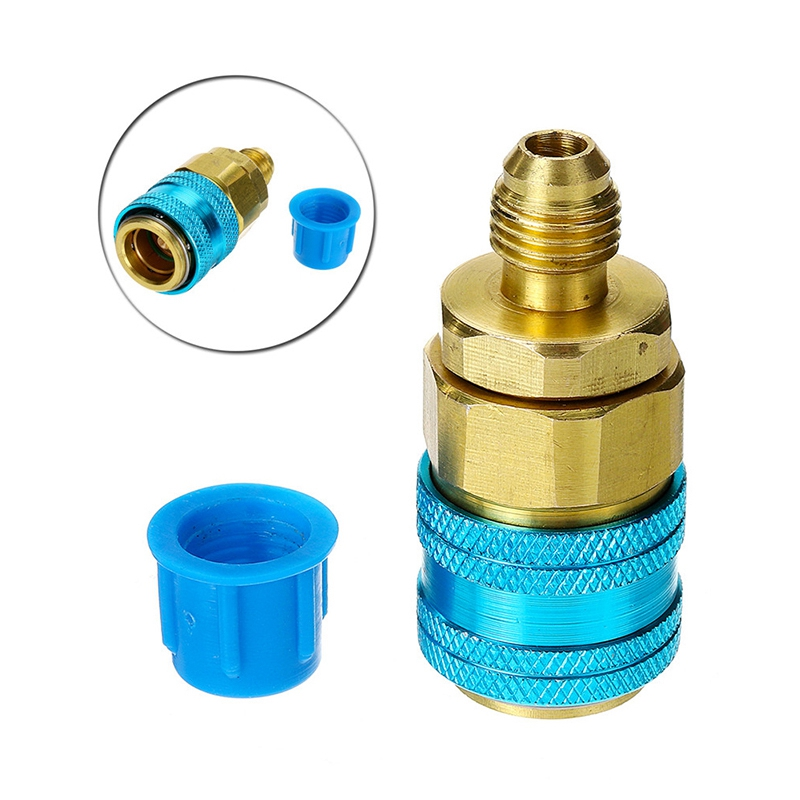Oil/&Dye Injector R134A 2 OZ Hand Turn Pump Olier Injection Car Auto A//C Adapter