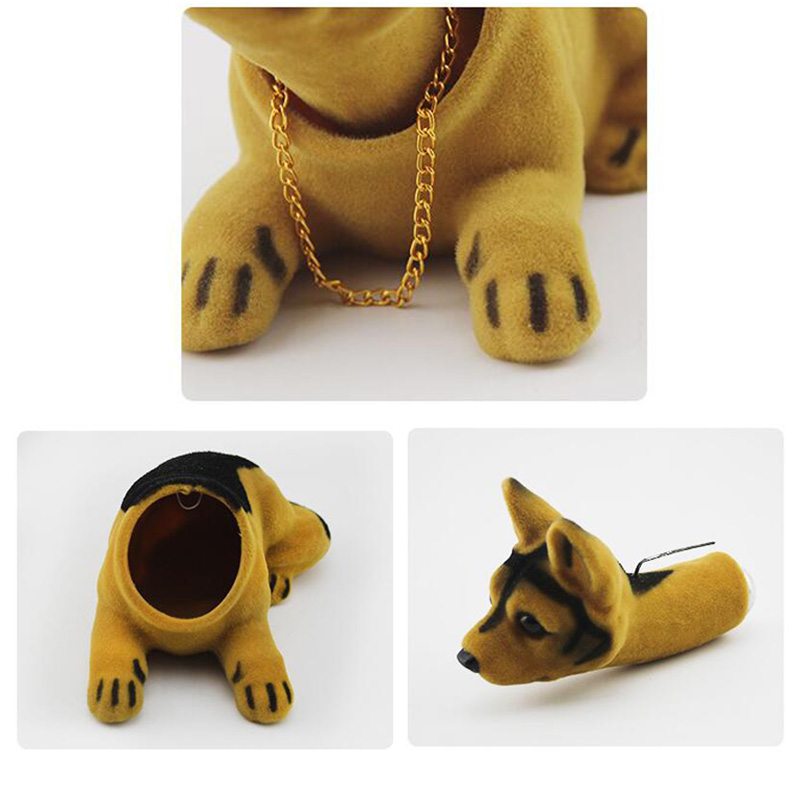 Lucky-Dog-Shaking-Head-Toy-Car-Home-Office-Ornament-I3X4 thumbnail 5