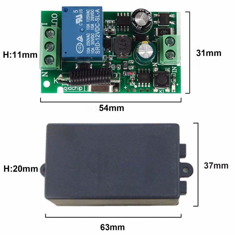 Interrupteur-Mural-Sans-Fil-Panneau-Mural-Telecommande-Emetteur-et-Recepteur-j1y miniature 4