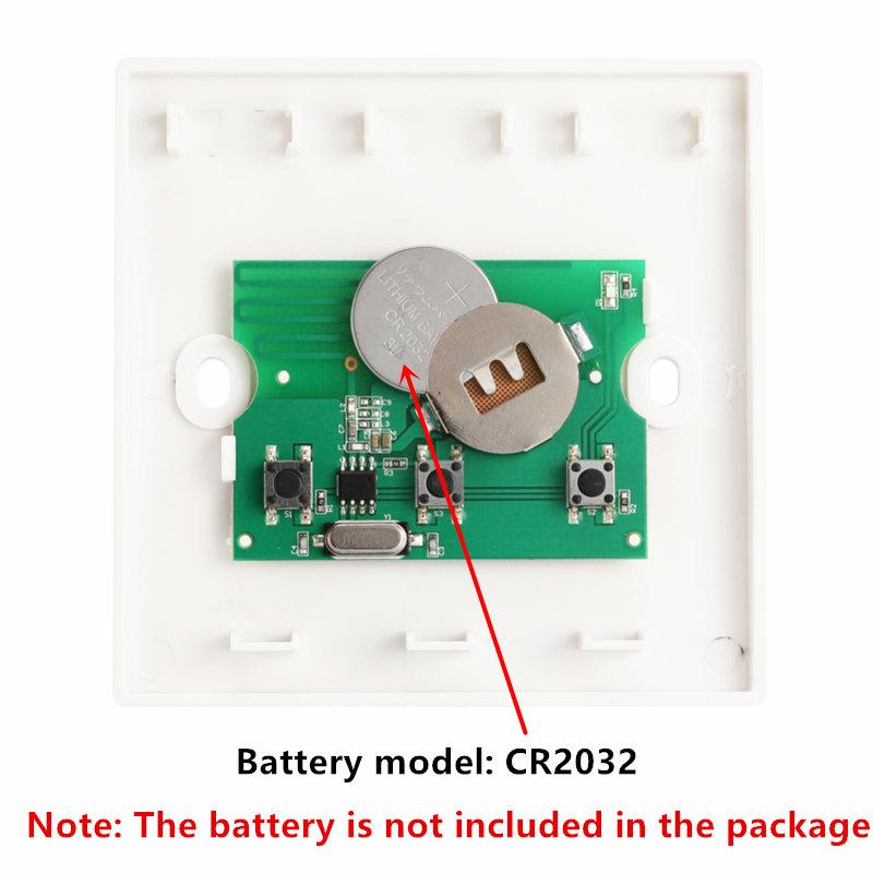 Interrupteur-Mural-Sans-Fil-Panneau-Mural-Telecommande-Emetteur-et-Recepteur-j1y miniature 8