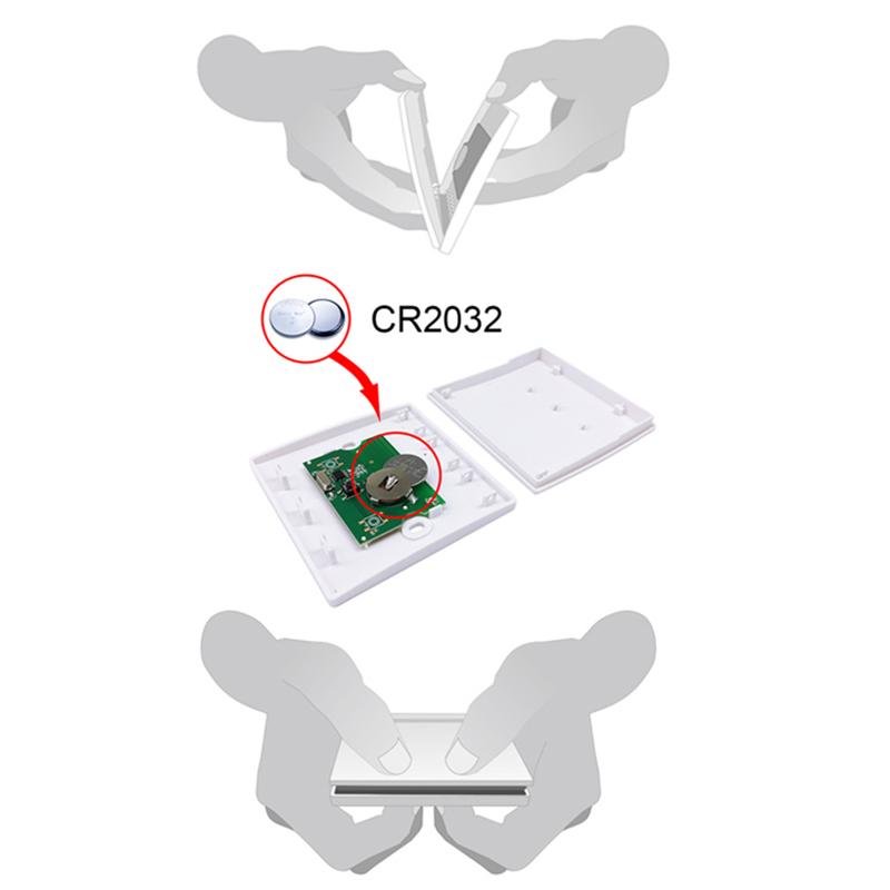 Interrupteur-Mural-Sans-Fil-Panneau-Mural-Telecommande-Emetteur-et-Recepteur-j1y miniature 9
