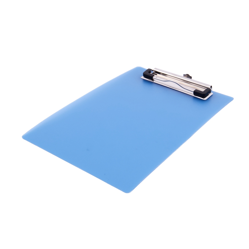 Office School Spring Loaded A5 Paper Holding File Clamp Clip Board Blue H3B8 10X