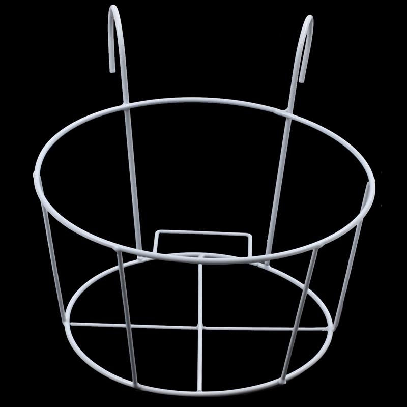 Metal-Iron-Flower-Pot-Hanging-Balcony-Garden-Plant-Planter-Home-Decor-baske-Q3F3 thumbnail 18
