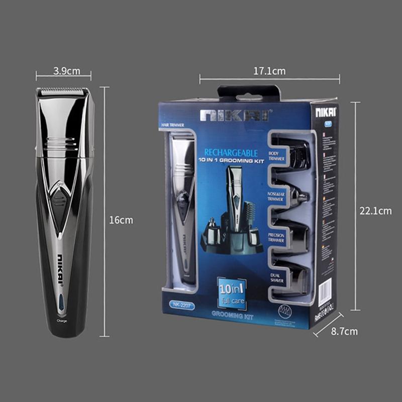 1X-Nikai-Maenner-Elektro-Rasierer-Rasierer-Bart-Haar-Schneide-Maschine-TrimJ6I4 Indexbild 5