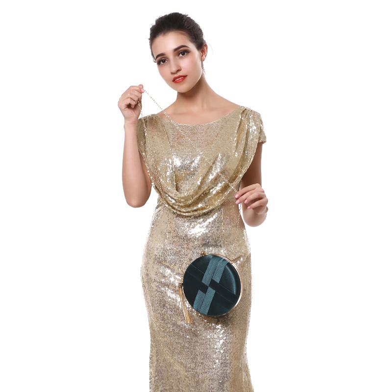 Fashion-Women-Bag-Tassel-Metal-Small-Day-Clutch-Purse-Handbags-Chain-ShouldN5S7 thumbnail 4