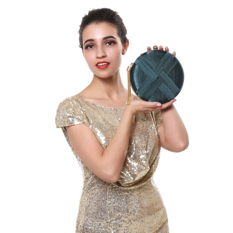 Fashion-Women-Bag-Tassel-Metal-Small-Day-Clutch-Purse-Handbags-Chain-ShouldN5S7 thumbnail 6
