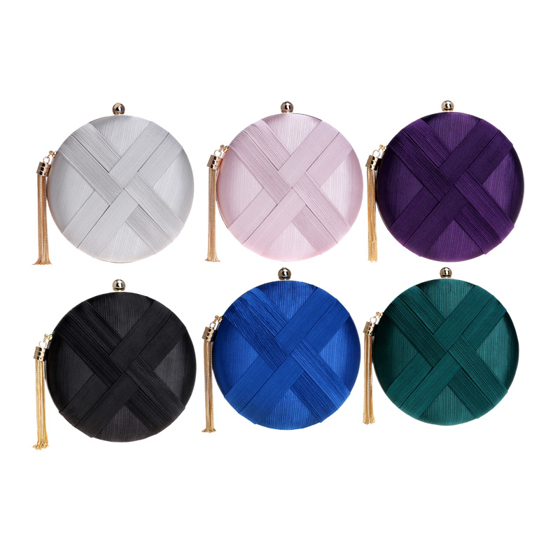 Fashion-Women-Bag-Tassel-Metal-Small-Day-Clutch-Purse-Handbags-Chain-ShouldN5S7 thumbnail 15