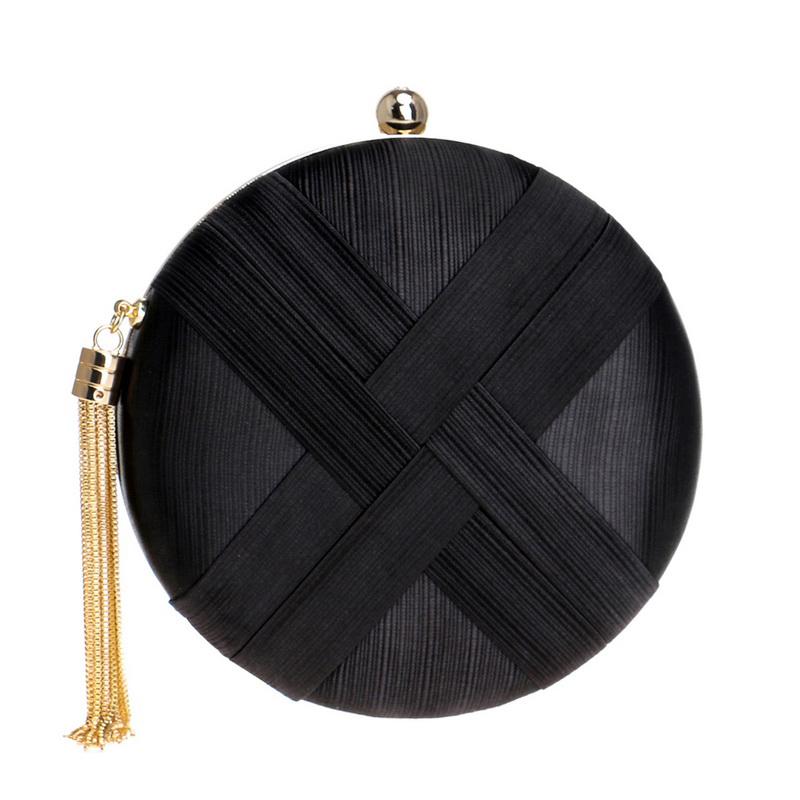 Fashion-Women-Bag-Tassel-Metal-Small-Day-Clutch-Purse-Handbags-Chain-ShouldN5S7 thumbnail 9