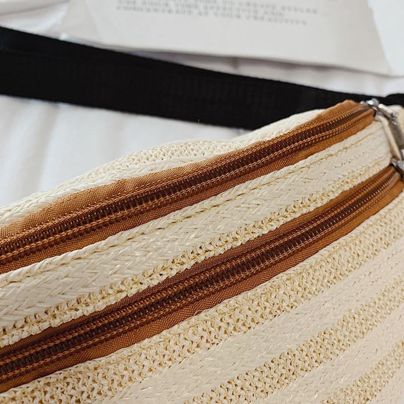 Rattan-Tasche-Stroh-Guertel-Tasche-Frauen-Weiblichen-Guertel-Tasche-Hueft-T-M1S8 Indexbild 5