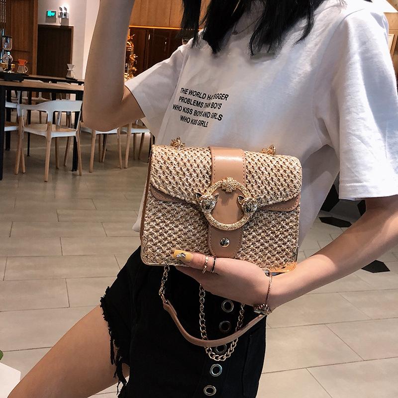 thumbnail 4 - Bags-For-Women-Chains-Straw-Bags-Beach-Handbags-Summer-Vintage-Rattan-Bag-HI9L2