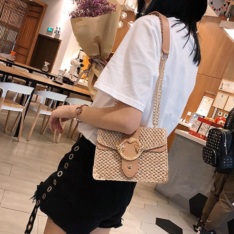 thumbnail 5 - Bags-For-Women-Chains-Straw-Bags-Beach-Handbags-Summer-Vintage-Rattan-Bag-HI9L2