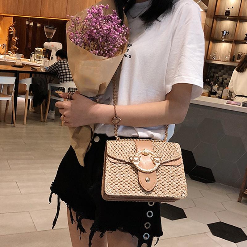 thumbnail 6 - Bags-For-Women-Chains-Straw-Bags-Beach-Handbags-Summer-Vintage-Rattan-Bag-HI9L2