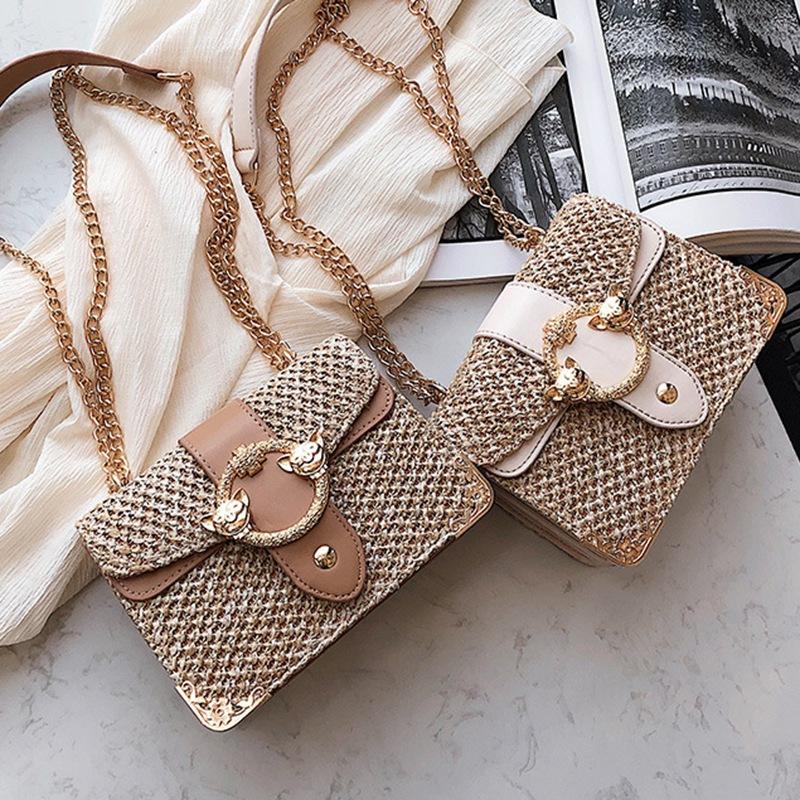 thumbnail 7 - Bags-For-Women-Chains-Straw-Bags-Beach-Handbags-Summer-Vintage-Rattan-Bag-HI9L2