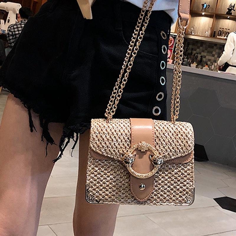thumbnail 8 - Bags-For-Women-Chains-Straw-Bags-Beach-Handbags-Summer-Vintage-Rattan-Bag-HI9L2