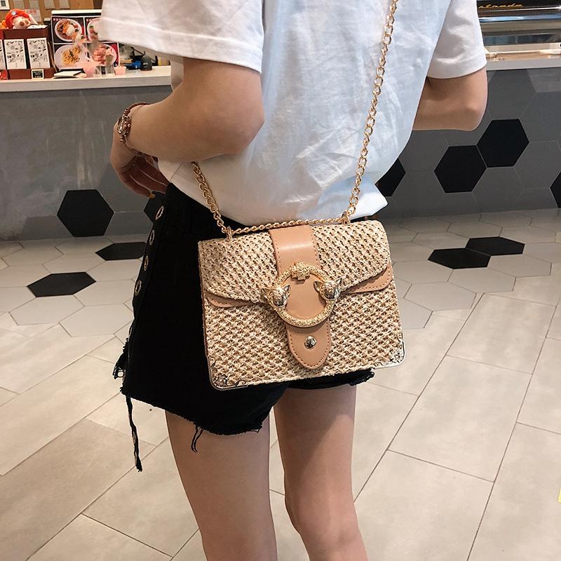 thumbnail 9 - Bags-For-Women-Chains-Straw-Bags-Beach-Handbags-Summer-Vintage-Rattan-Bag-HI9L2