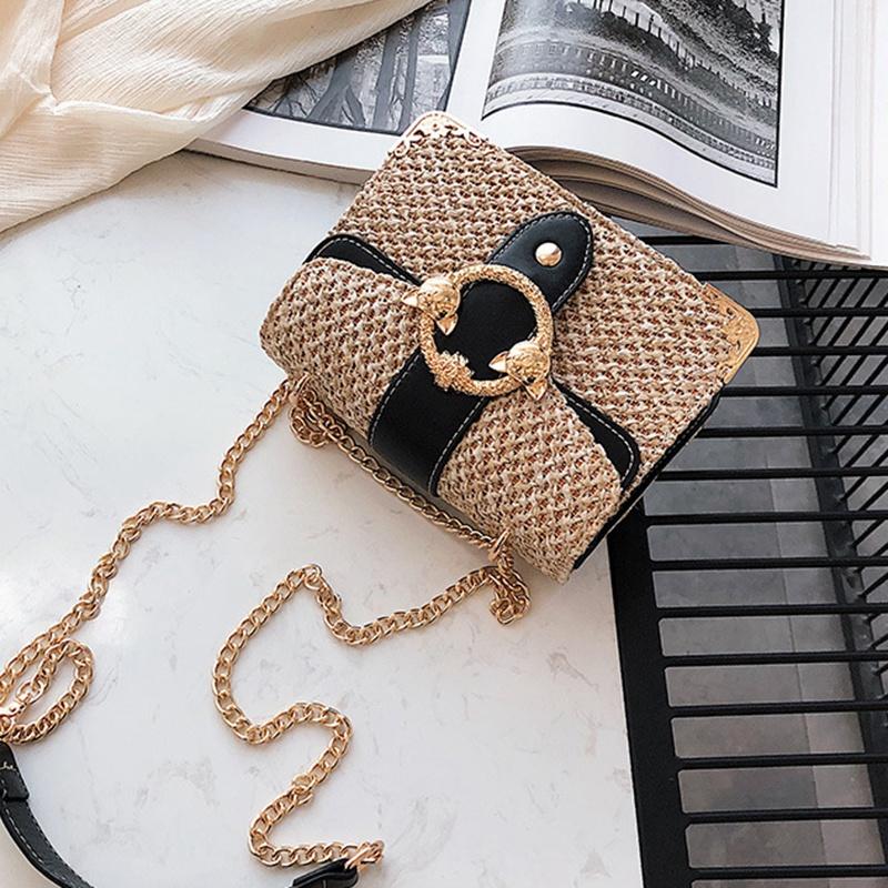 thumbnail 13 - Bags-For-Women-Chains-Straw-Bags-Beach-Handbags-Summer-Vintage-Rattan-Bag-HI9L2