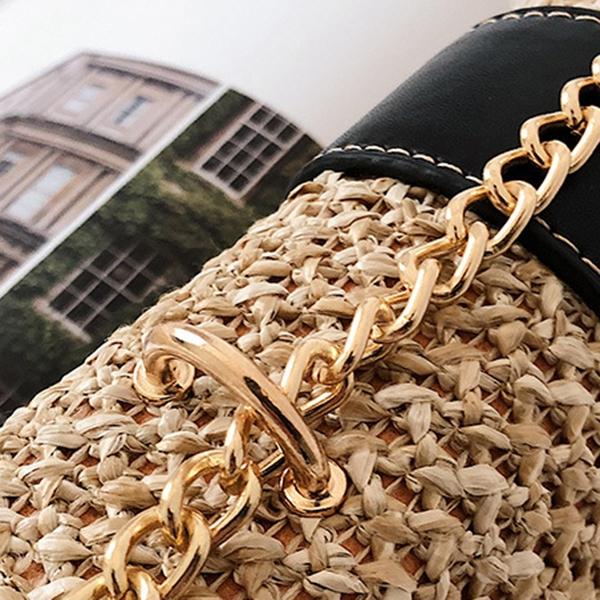 thumbnail 18 - Bags-For-Women-Chains-Straw-Bags-Beach-Handbags-Summer-Vintage-Rattan-Bag-HI9L2