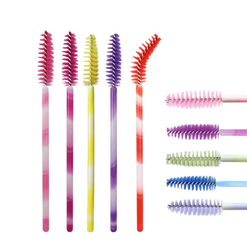 1X-50pcs-Poignee-Jetables-Baguettes-De-Mascara-Sourcil-Applicateur-Cils-Maq-A7W7 miniature 4