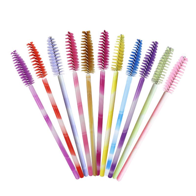 1X-50pcs-Poignee-Jetables-Baguettes-De-Mascara-Sourcil-Applicateur-Cils-Maq-A7W7 miniature 50
