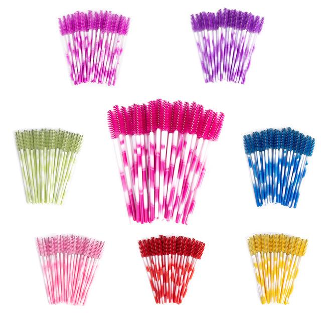1X-50pcs-Poignee-Jetables-Baguettes-De-Mascara-Sourcil-Applicateur-Cils-Maq-A7W7 miniature 71