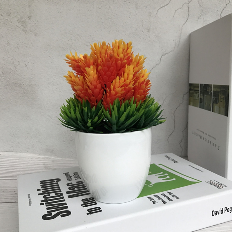 5 x Agave Blumenköpfe    Blüten  orange  Kunstblumen Seidenblumen