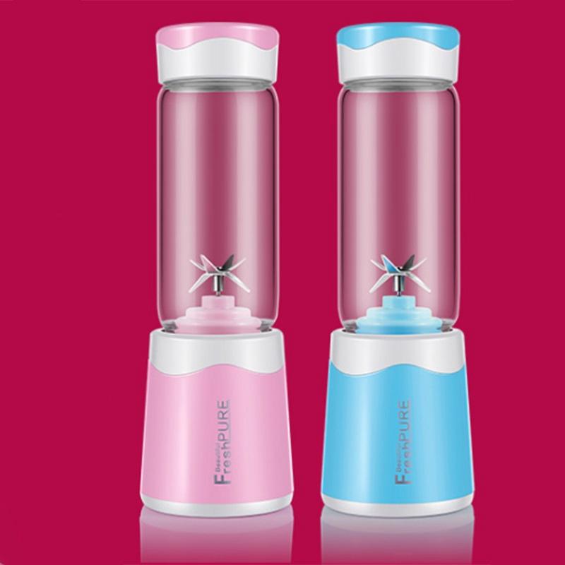 2X-MELangeur-Portatif-Usb-Juicer-Cup-Mixeur-De-Fruits-Multifonctionnel-Six-M2B7 miniature 5
