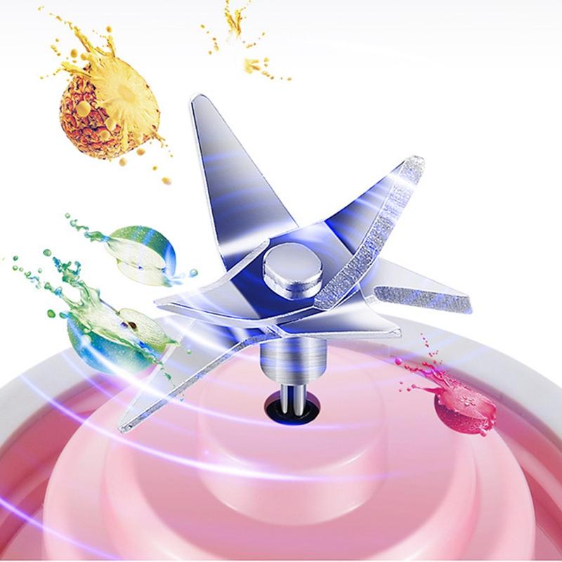 2X-MELangeur-Portatif-Usb-Juicer-Cup-Mixeur-De-Fruits-Multifonctionnel-Six-M2B7 miniature 8