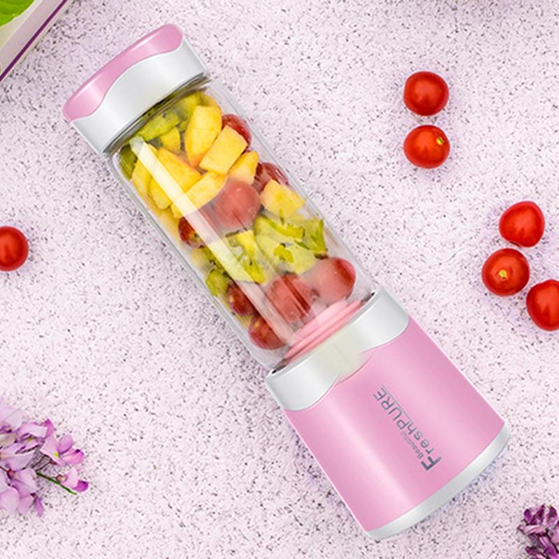 2X-MELangeur-Portatif-Usb-Juicer-Cup-Mixeur-De-Fruits-Multifonctionnel-Six-M2B7 miniature 9