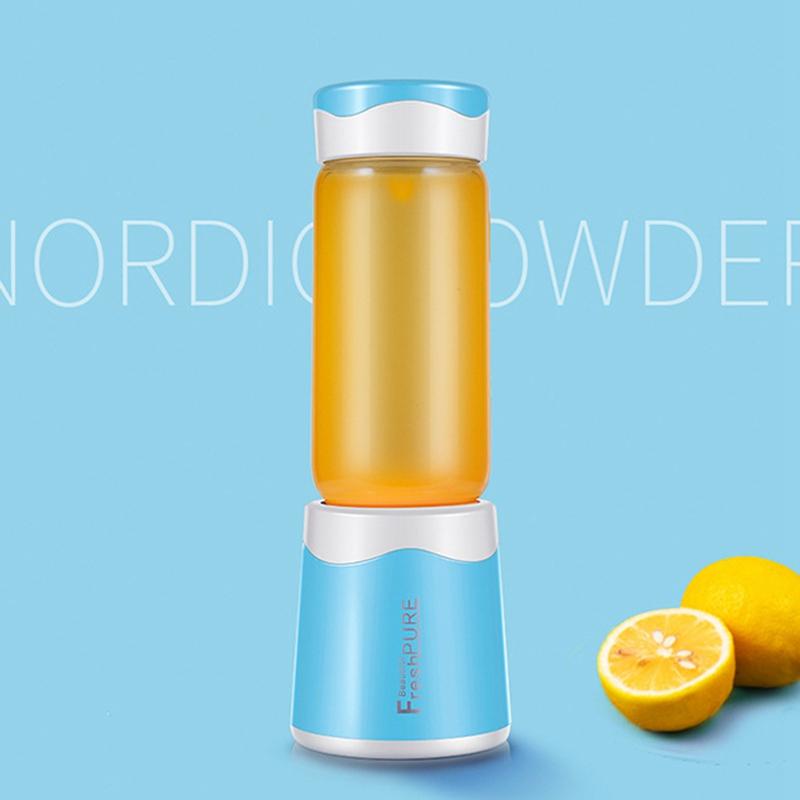 2X-MELangeur-Portatif-Usb-Juicer-Cup-Mixeur-De-Fruits-Multifonctionnel-Six-M2B7 miniature 12