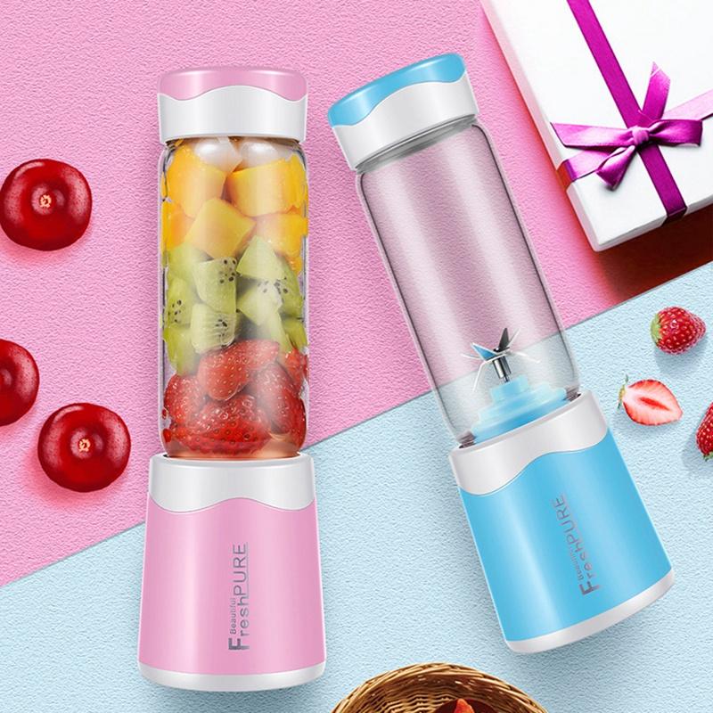 2X-MELangeur-Portatif-Usb-Juicer-Cup-Mixeur-De-Fruits-Multifonctionnel-Six-M2B7 miniature 14