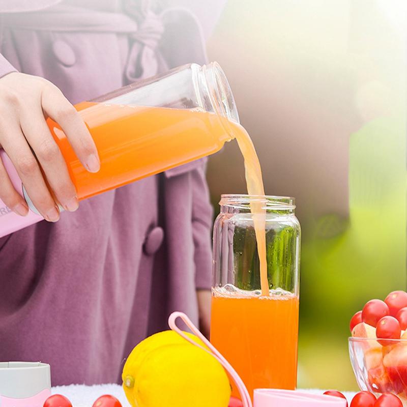 2X-MELangeur-Portatif-Usb-Juicer-Cup-Mixeur-De-Fruits-Multifonctionnel-Six-M2B7 miniature 18
