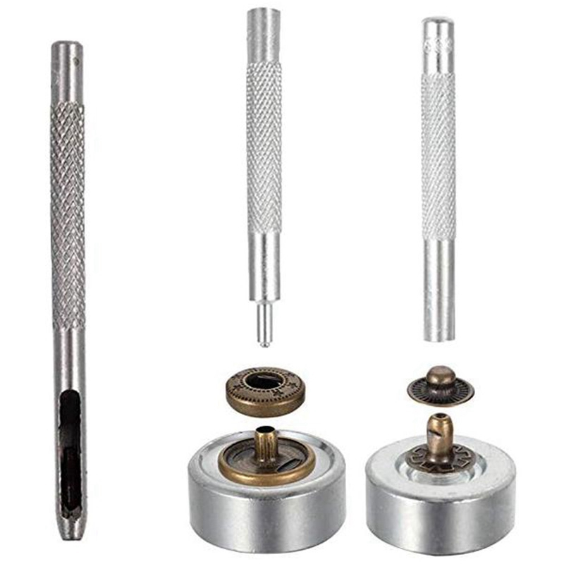Botones-De-Metal-Sin-Coser-Boton-a-Presion-Presionar-Stud-Cuero-De-Cuero-Ar-V8J7 miniatura 4