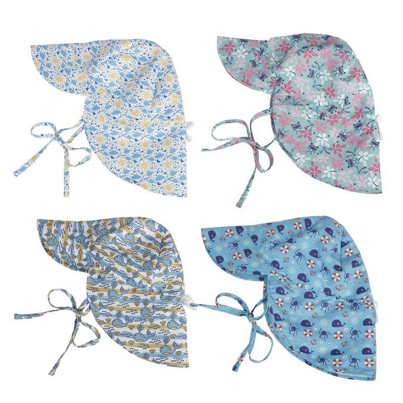 2X-Summer-BEBE-Chapeau-De-Soleil-Enfants-En-Plein-Air-Cou-Oreille-Couvertur-G2C6 miniature 4