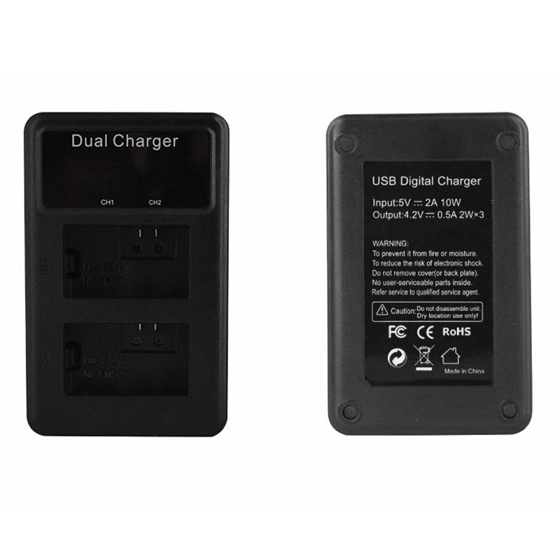 Lcd-Doppel-Usb-Batterie-Ladegeraet-Fuer-Sony-Fw50-Np-Fw50-Np-Fw50-Npfw50-Batt-U1T8 Indexbild 7
