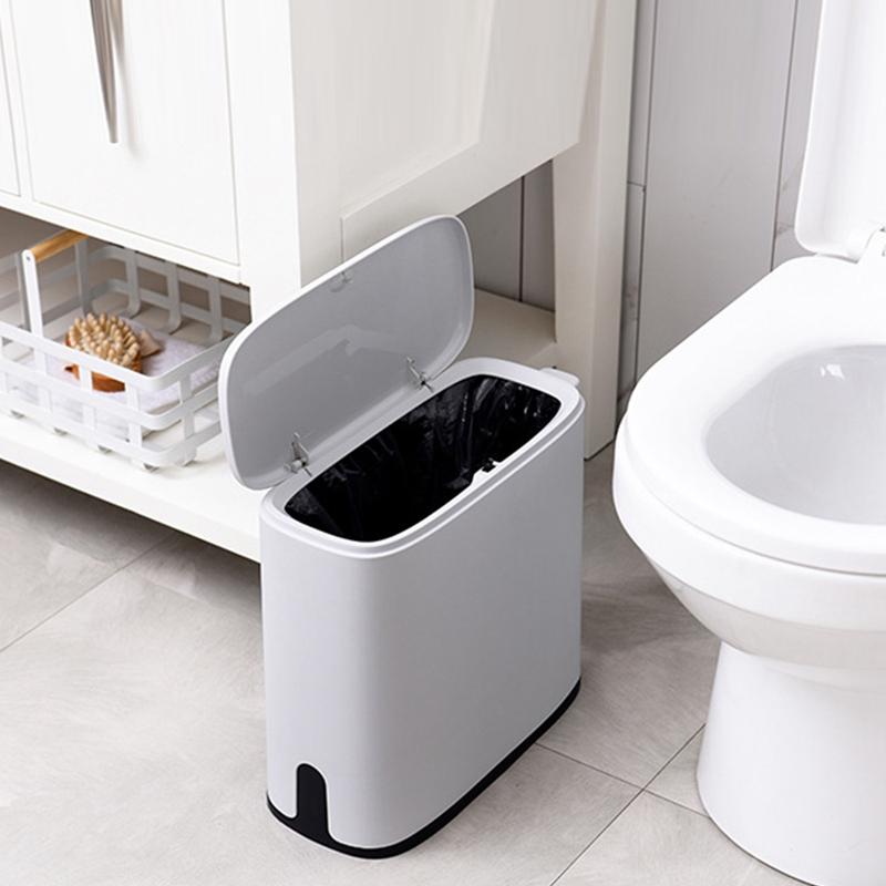 11L-Muelleimer-Bad-Muelleimer-Toilette-Muelleimer-Muelleimer-Muelltuetenhalter-Vo-Z6X1 Indexbild 14