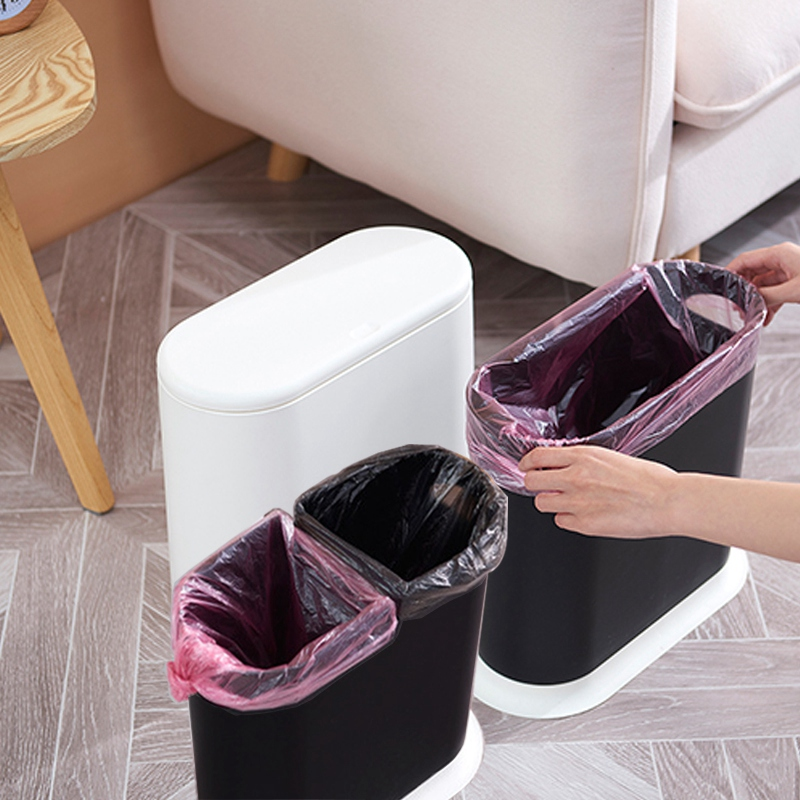 Trash-Cans-For-The-Kitchen-Bathroom-Wc-Garbage-Classification-Rubbish-Bin-D-U5T8 thumbnail 15