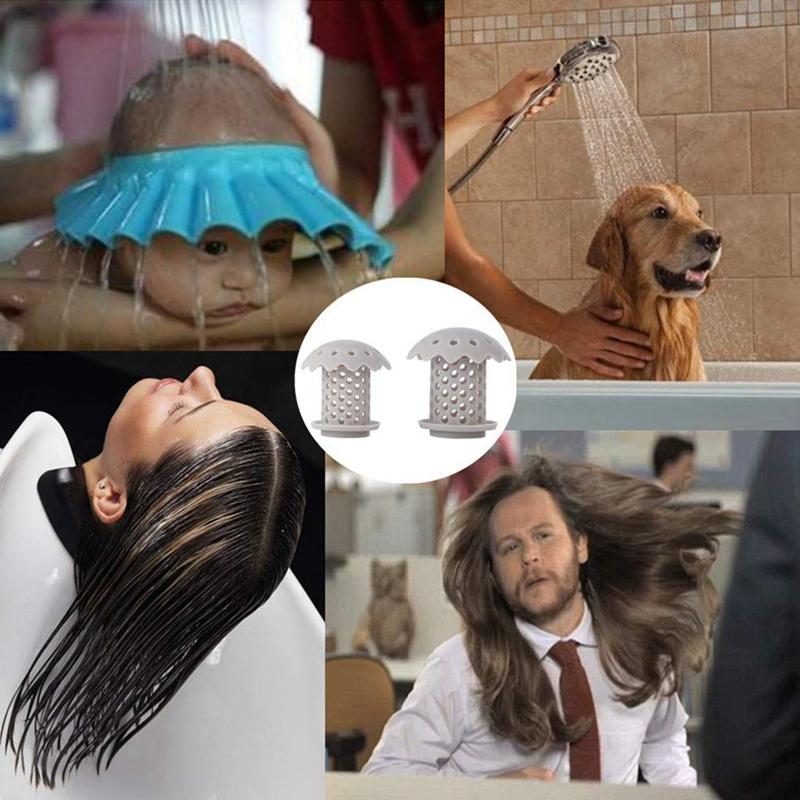 2-Pcs-Bathtub-Sink-Drain-Hair-Catcher-Protector-Strainer-Durable-Bathtub-Sh-Q3L7 thumbnail 6