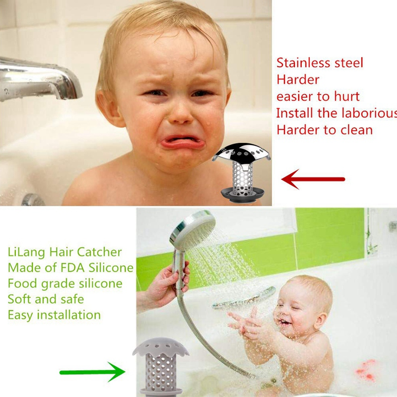 2-Pcs-Bathtub-Sink-Drain-Hair-Catcher-Protector-Strainer-Durable-Bathtub-Sh-Q3L7 thumbnail 7