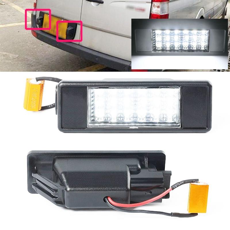 1X-2Pcs-Led-Number-License-Plate-Light-For-Mercedes-Benz-Sprinter-W906-200B9B3 thumbnail 2