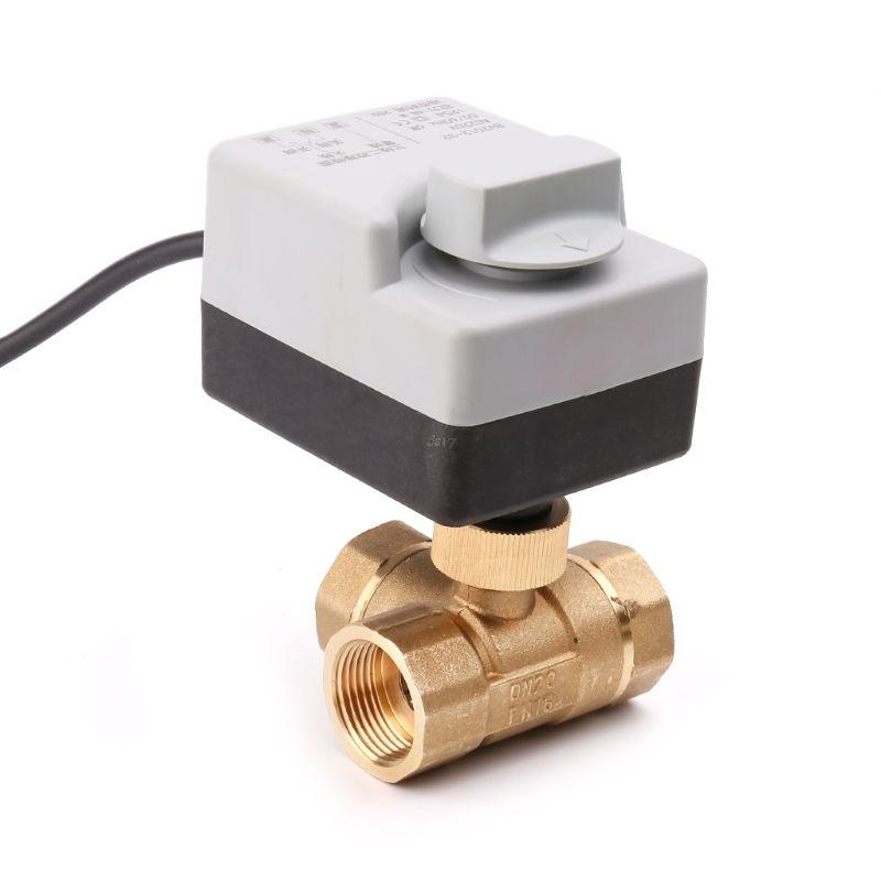 Robinet-A-Tournant-SphERique-MotorisE-ELectrique-3-Voies-Ac220V-A-Trois-Fil-P5L1 miniature 5