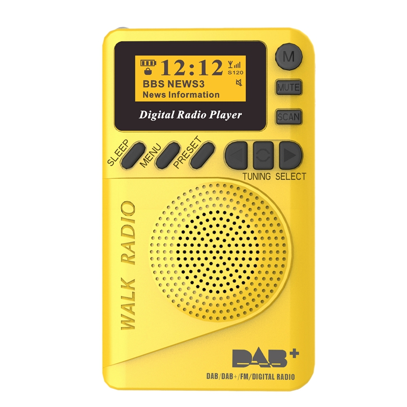 2X(Pocket Mini Dab Digital Radio Fm Digital Demodulator Portable Mp3 Player2L9)
