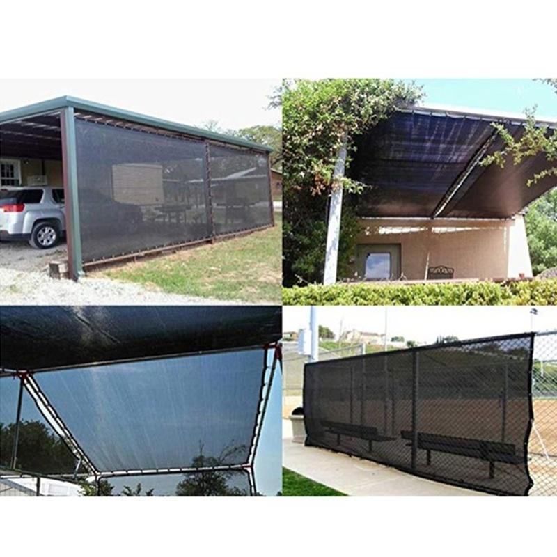 2X-Sun-Mesh-Sunblock-Outdoor-Garden-Anti-Uv-Sunscreen-Shade-Sails-Sunblock-F8O5 thumbnail 11