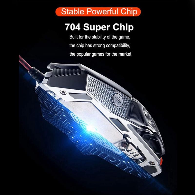 V9-2400Dpi-Led-Wired-Mouse-Mechanic-Led-Backlight-Gaming-Mouse-6-Button-V3N4 miniature 4