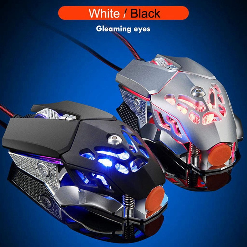 V9-2400Dpi-Led-Wired-Mouse-Mechanic-Led-Backlight-Gaming-Mouse-6-Button-V3N4 miniature 5